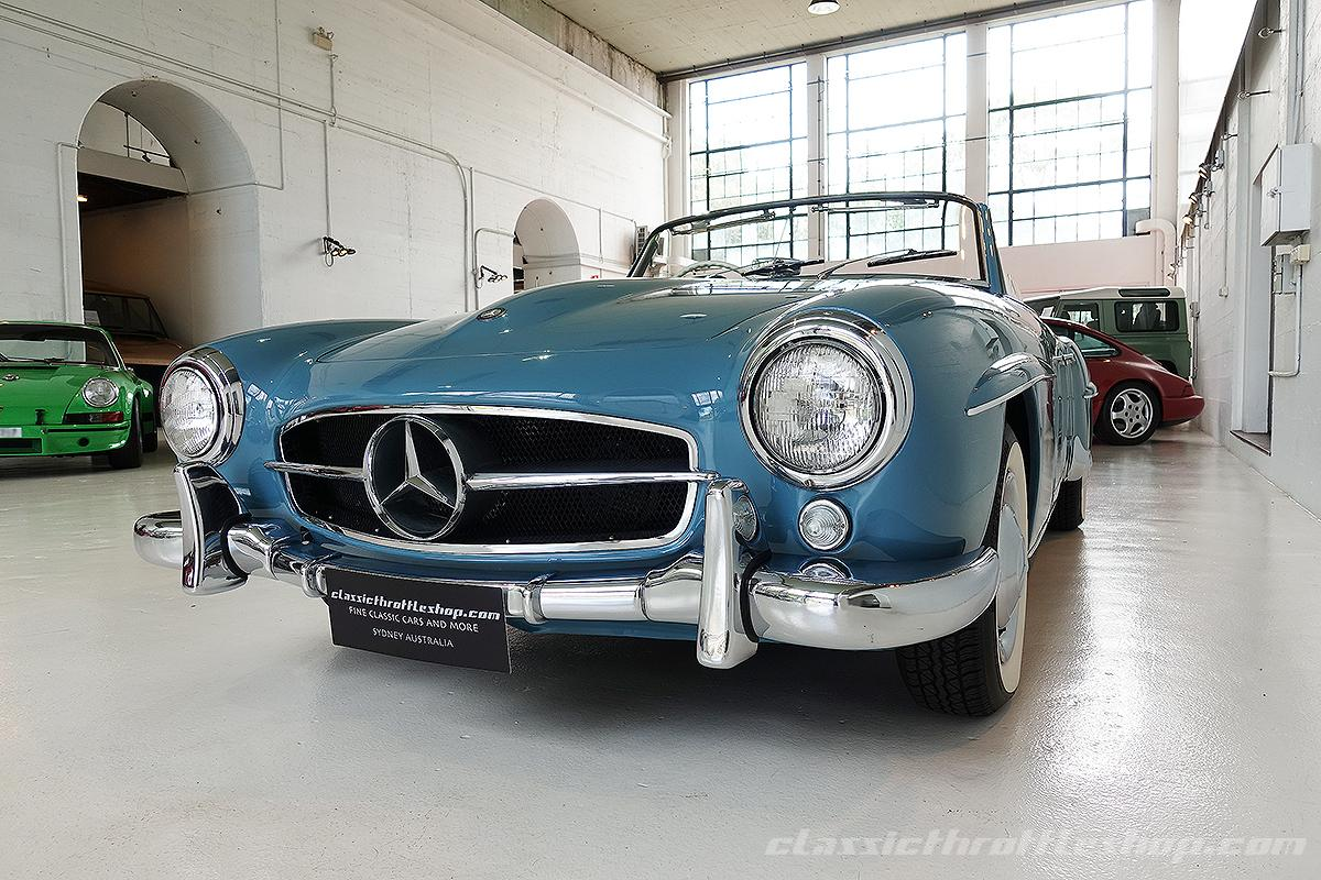 1957 mercedes benz 190 sl deflin blue classic throttle shop. Black Bedroom Furniture Sets. Home Design Ideas