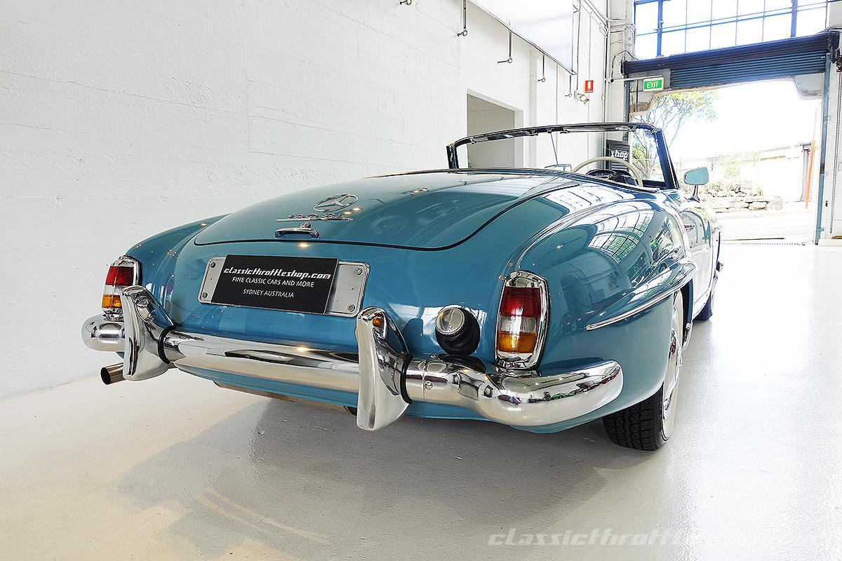 1957 mercedes benz 190 sl deflin blue classic throttle shop for Mercedes benz shop